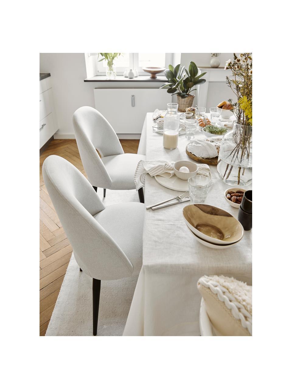 Krzesło tapicerowane z aksamitu Rachel, Tapicerka: aksamit (wysokiej jakości, Nogi: metal malowany proszkowo, Aksamit beżowy, S 53 x G 57 cm