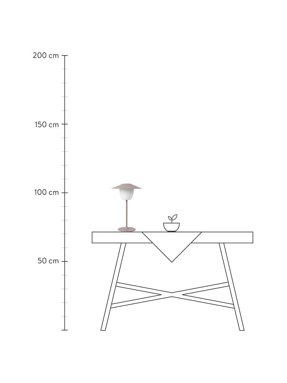 Mobile Dimmbare Außenleuchte Ani zum Hängen oder Stellen, Lampenschirm: Aluminium, Lampenfuß: Aluminium, beschichtet, Altrosa, Ø 22 x H 33 cm