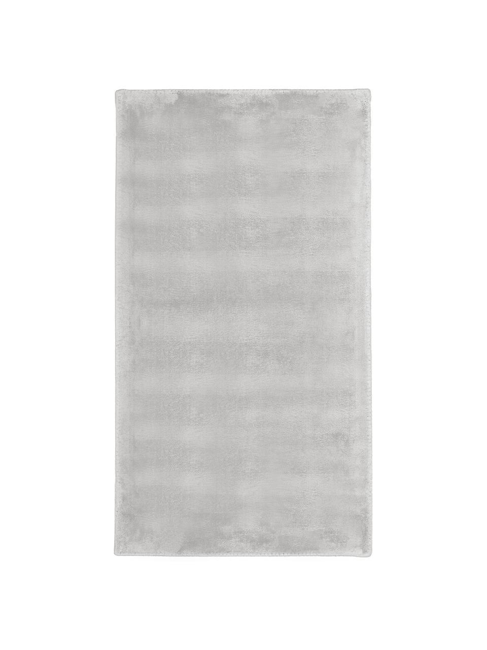 Tappeto in viscosa extra morbido Grace, Retro: 100% poliestere, Grigio, Larg. 200 x Lung. 300 cm (taglia L)