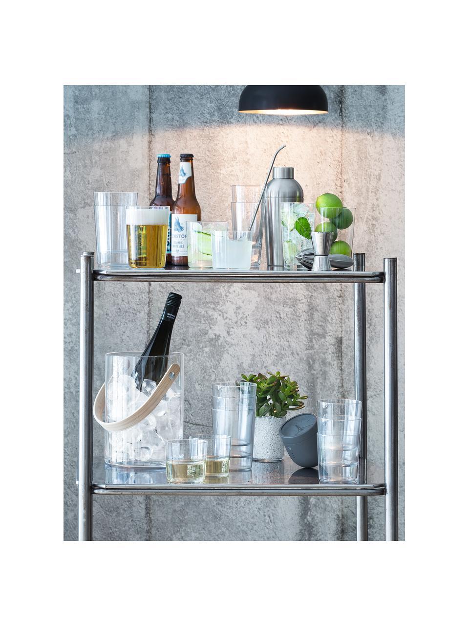 Filigrane Wassergläser Gio aus dünnem Glas, 6 Stück, Glas, Transparent, Ø 9 x H 12 cm