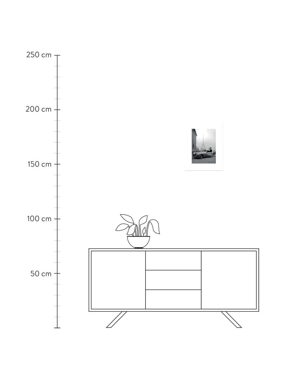 Gerahmter Digitaldruck France 1947, Bild: Digitaldruck auf Papier, Rahmen: Kunststoff (PU), Front: Glas, Rückseite: Mitteldichte Faserplatte , Bild: Schwarz, WeißRahmen: Schwarz, 35 x 45 cm