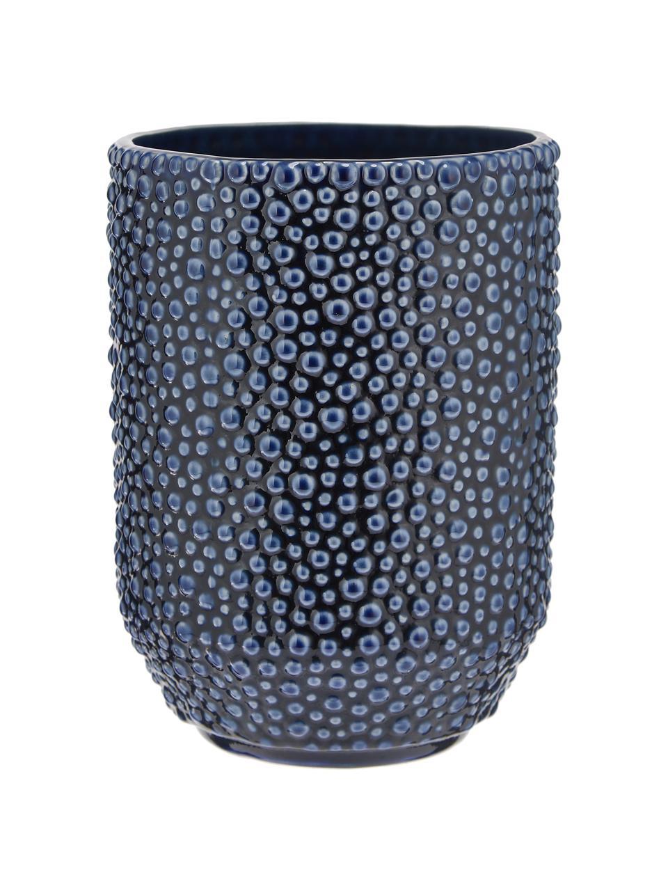 Keramik-Vase Ozean, Keramik, Blau, Ø 15 x H 21 cm