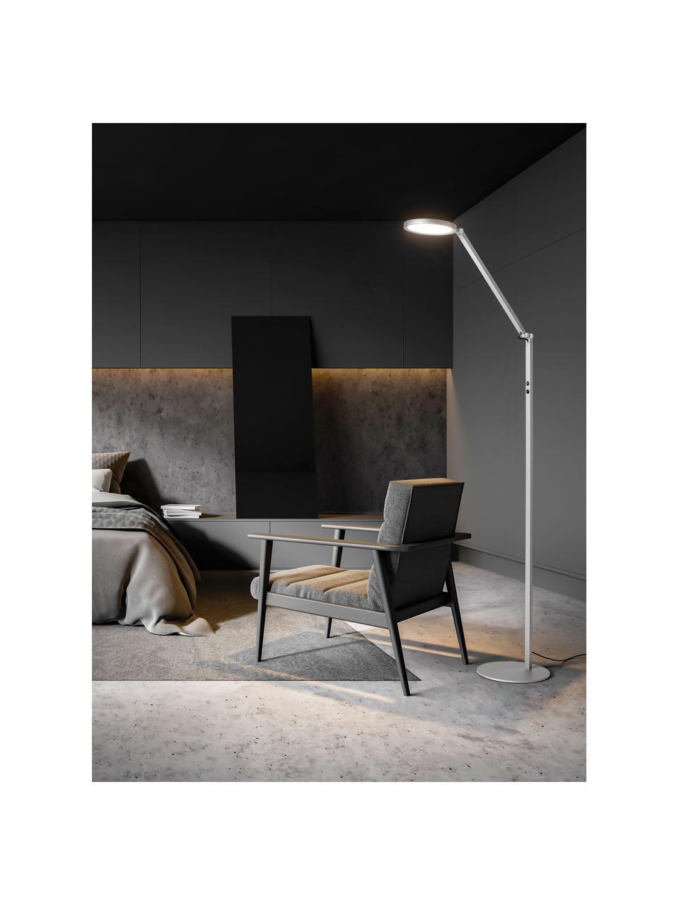 Lampka do czytania LED z funkcją przyciemniania Regina, Odcienie srebrnego, S 60 x W 160 cm