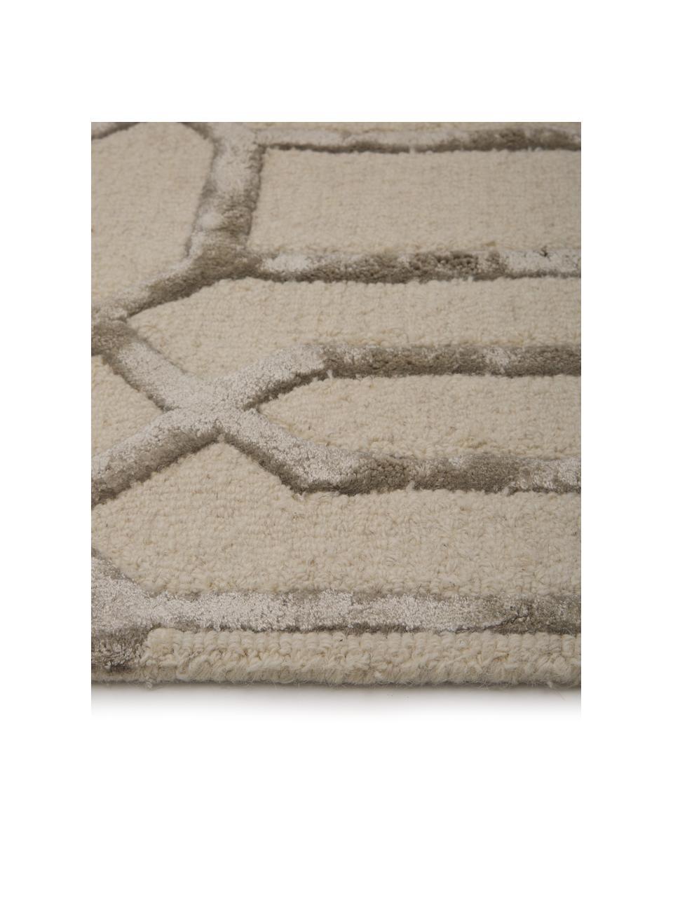 Ręcznie tuftowany dywan z wełny Vegas, Beżowy, kremowy, S 120 x D 185 cm (rozmiar S)