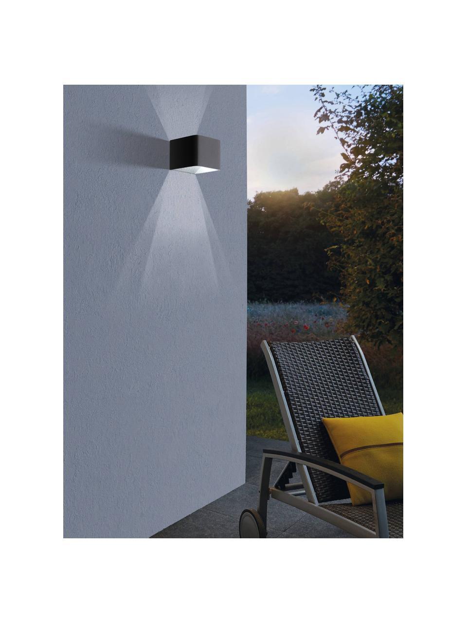Zewnętrzny kinkiet LED Doninni, Antracytowy, S 14 x W 8 cm