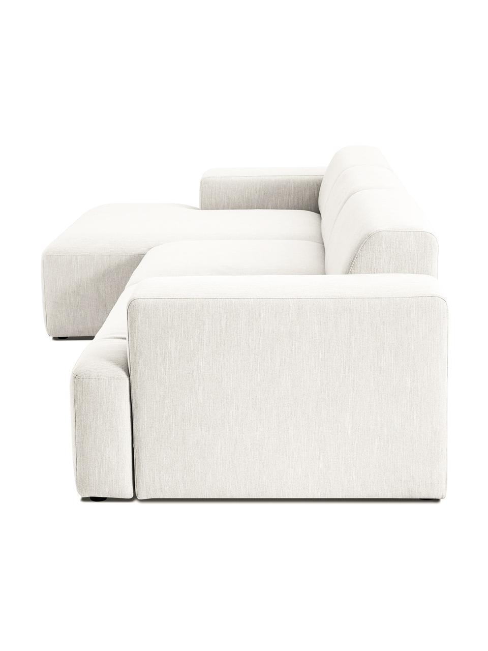 Ecksofa Melva (4-Sitzer) in Beige, Bezug: Polyester Der hochwertige, Gestell: Massives Kiefernholz, Spa, Webstoff Beige, B 319 x T 144 cm