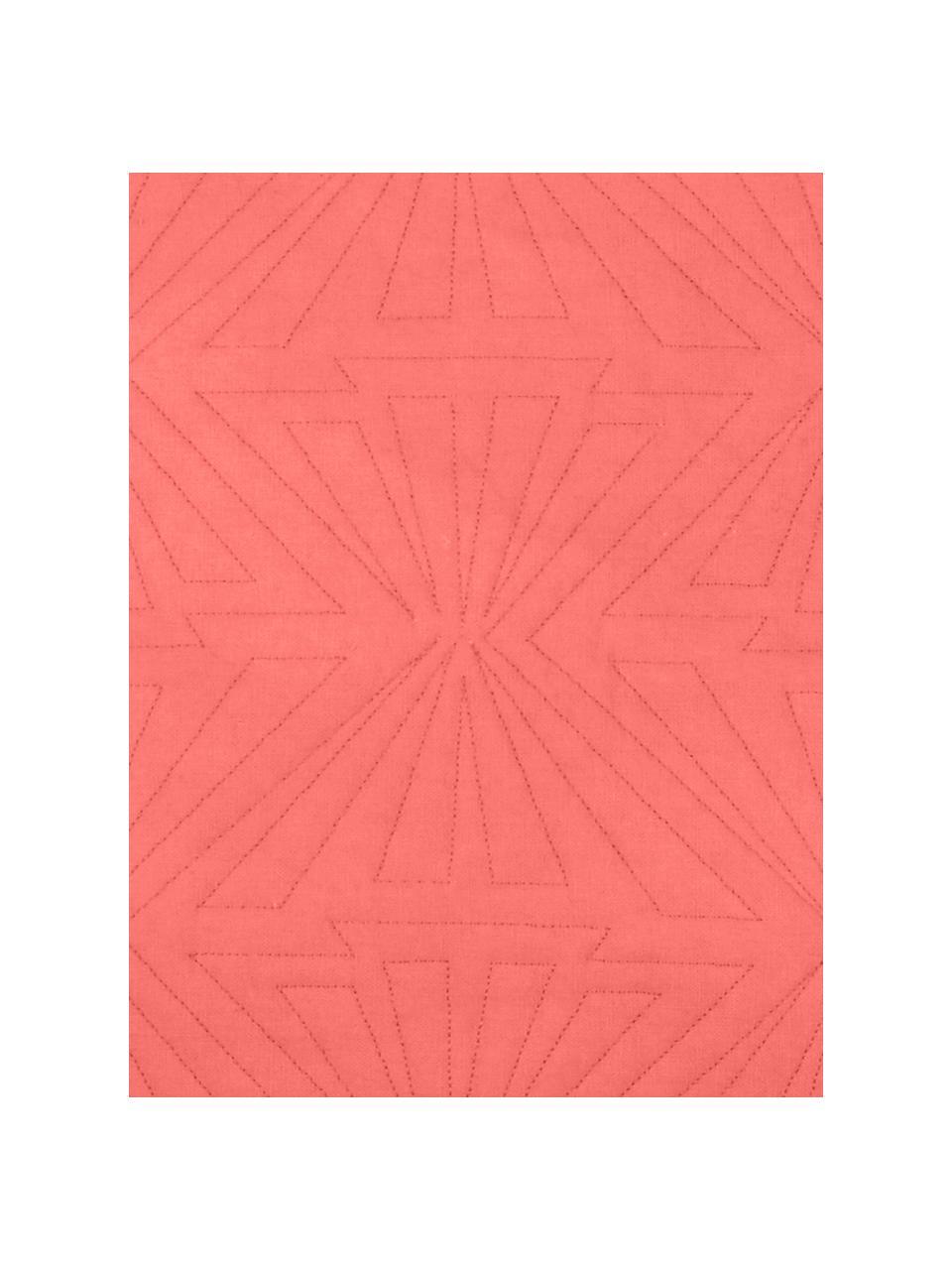 Coussin 55x55 corail Bauhaus, Corail