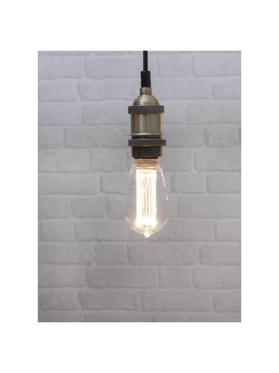 E27 Leuchtmittel, 2.5W, dimmbar, warmweiß, 1 Stück, Leuchtmittelschirm: Glas, Leuchtmittelfassung: Aluminium, Transparent, Ø 6 x H 15 cm