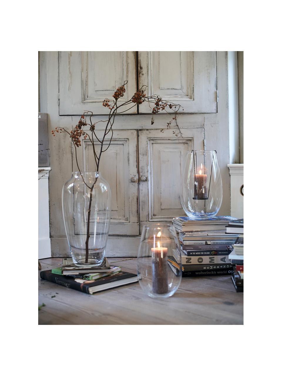 Große Glasvase Casolare, Glas, Transparent, Ø 23 x H 45 cm