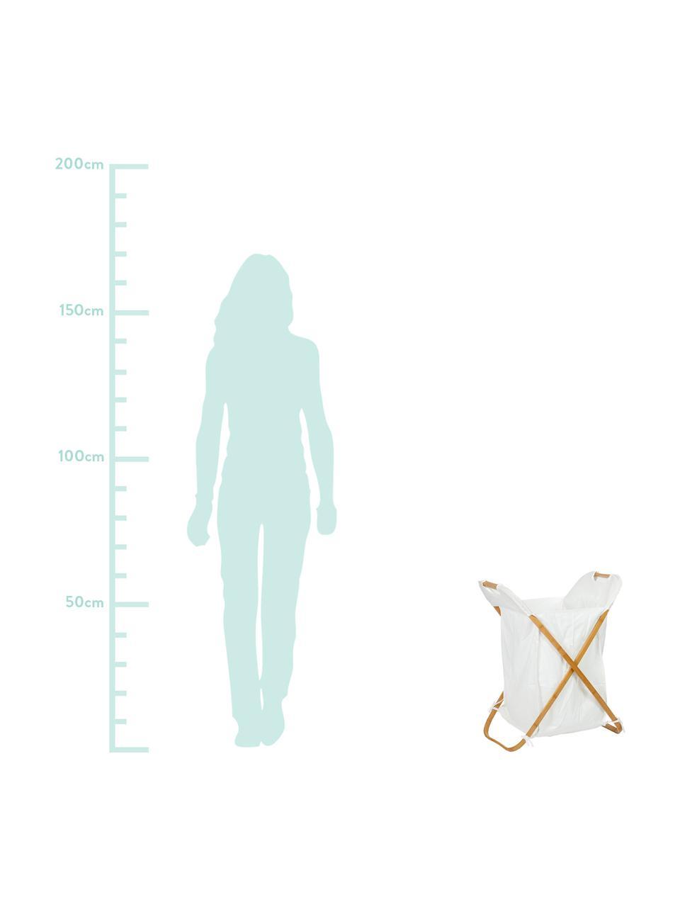 Kosz na pranie Brompton, Stelaż: drewno bambusowe, Brązowy, S 50 x W 62 cm