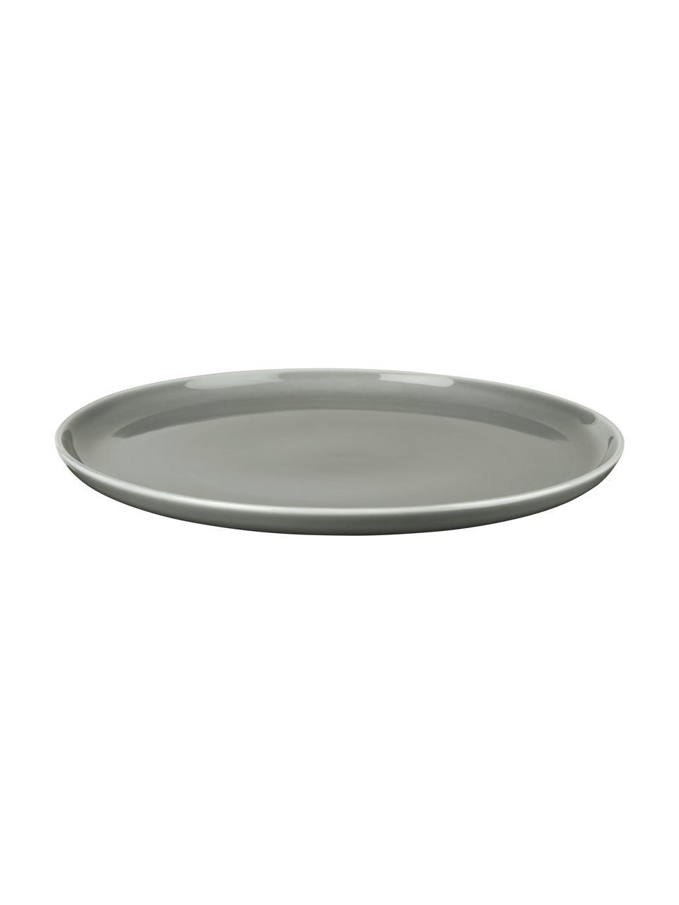 Piatto piano grigio lucido Kolibri 6 pz, Porcellana, Grigio, Ø 27 cm