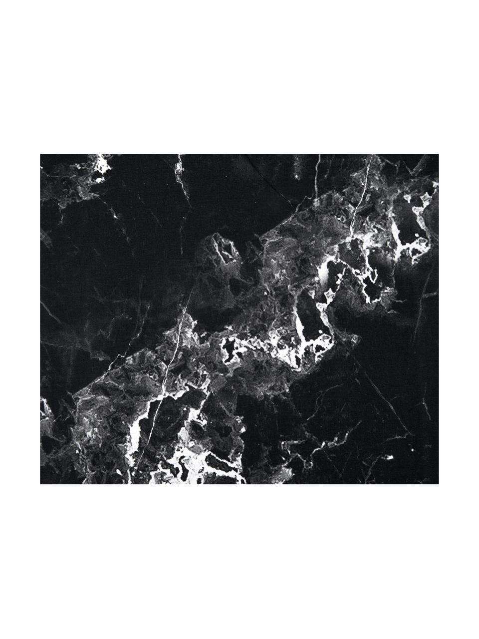 Set lenzuola reversibile effetto marmo Malin, Nero, bianco, 240 x 300 cm + 2 federe 50 x 80 cm