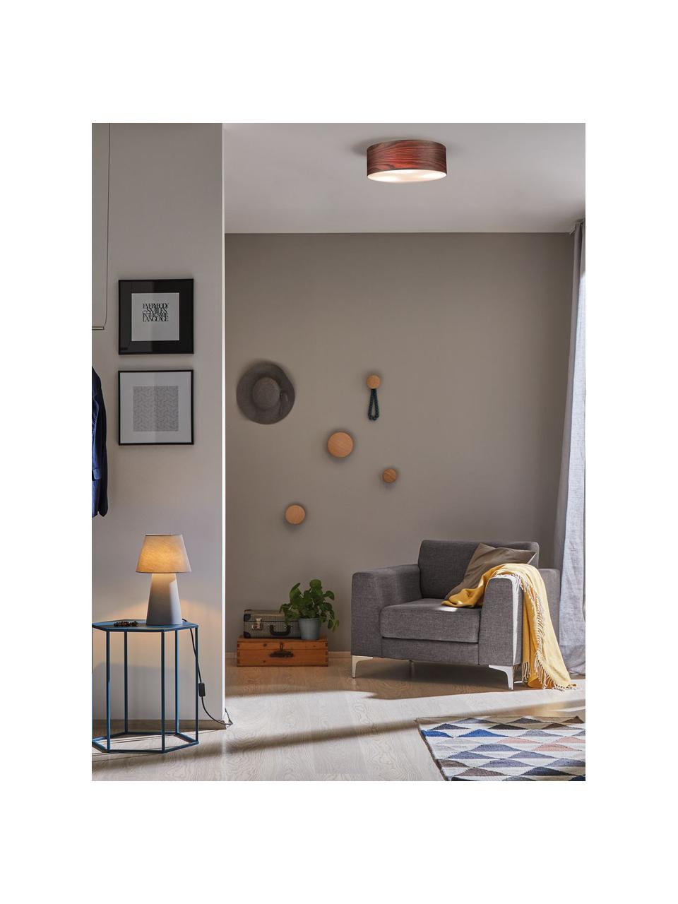 Deckenleuchte Neordic aus Holz, Lampenschirm: Holz, Diffusorscheibe: Kunststoff, Braun, Ø 45 x H 15 cm