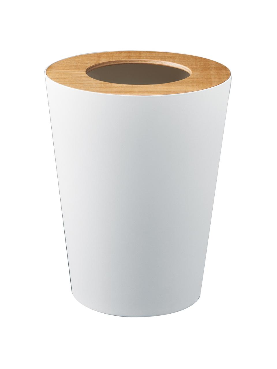 Kosz na śmieci Rin, Biały, brązowy, Ø 23 x W 28 cm