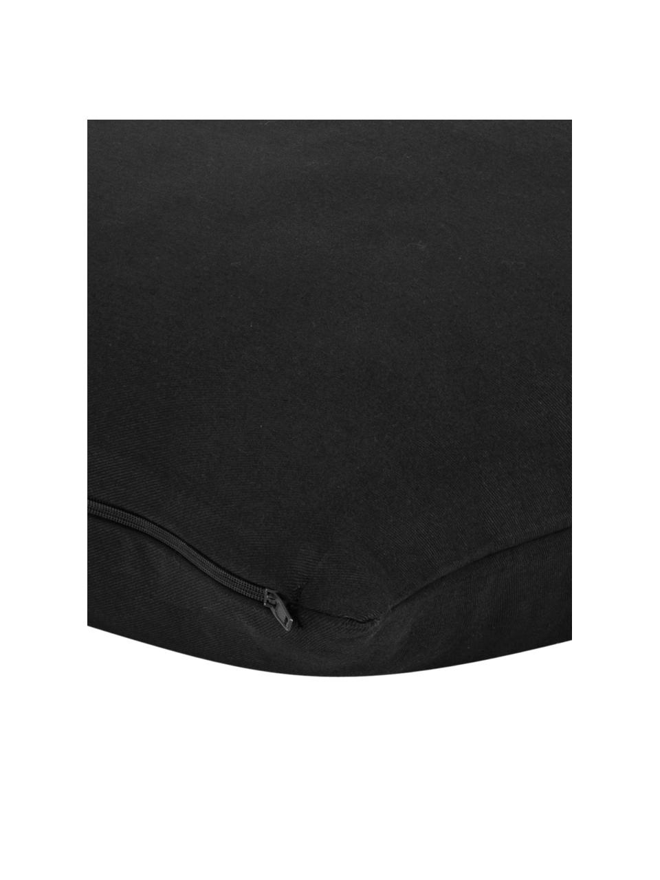 Baumwoll-Kissenhülle Mads in Schwarz, 100% Baumwolle, Schwarz, 50 x 50 cm