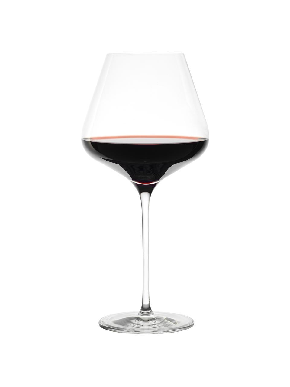 Bicchiere vino rosso in cristallo Quatrophil 6 pz, Cristallo, Trasparente, Ø 12 x Alt. 25 cm