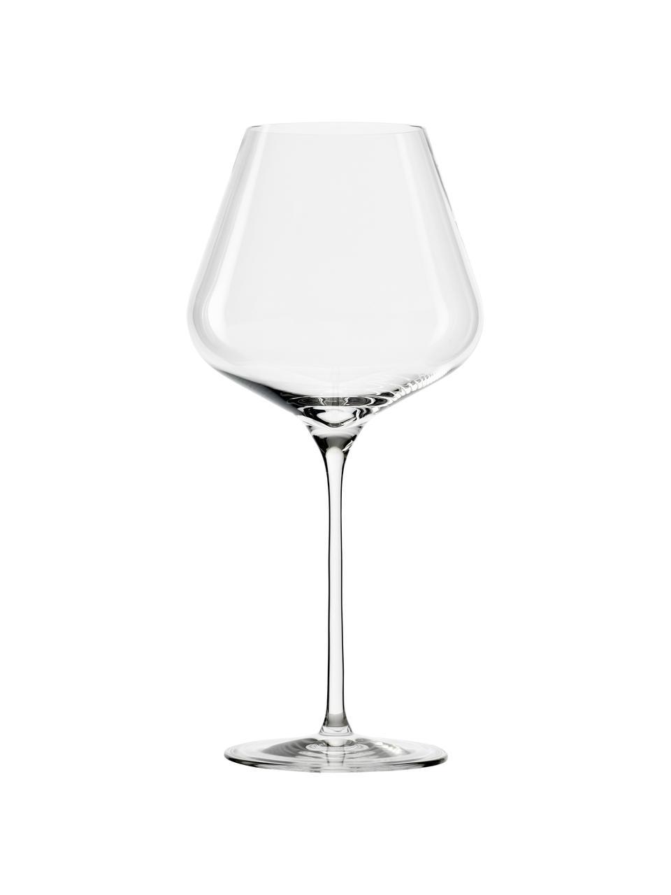 Rode wijnglazen Quatrophil, 6 stuks, Kristalglas, Transparant, Ø 12 x H 25 cm