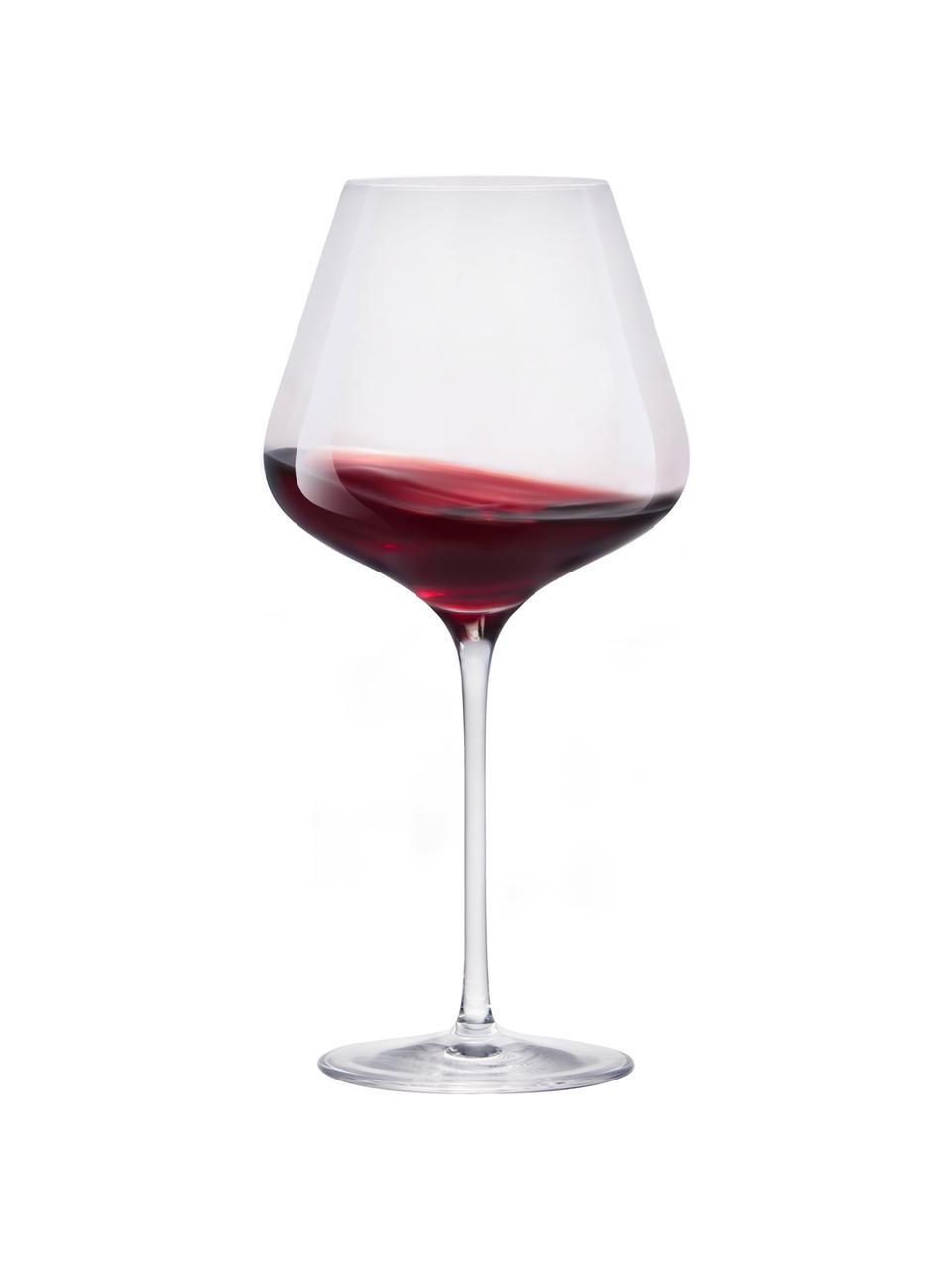 Kieliszek do czerwonego wina ze szkła kryształowego Quatrophil, 6 szt., Szkło kryształowe, Transparentny, Ø 12 x W 25 cm