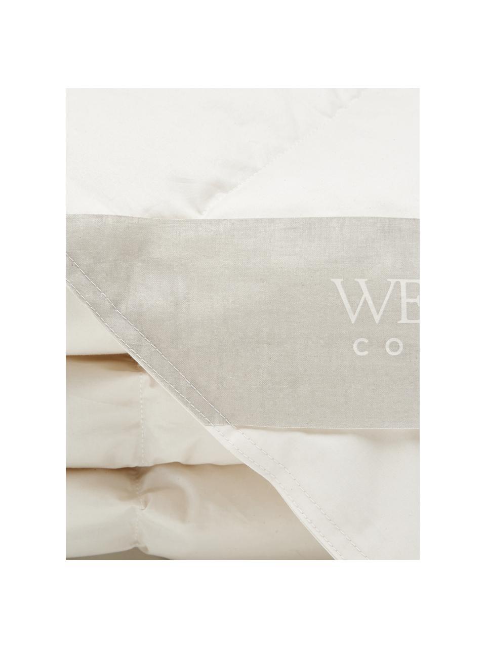 Bettdecke Premium aus Bio-Daunen und Bio-Baumwolle, leicht, Bezug: 100% Bio-Baumwolle, GOTS , Beige, 240 x 220 cm