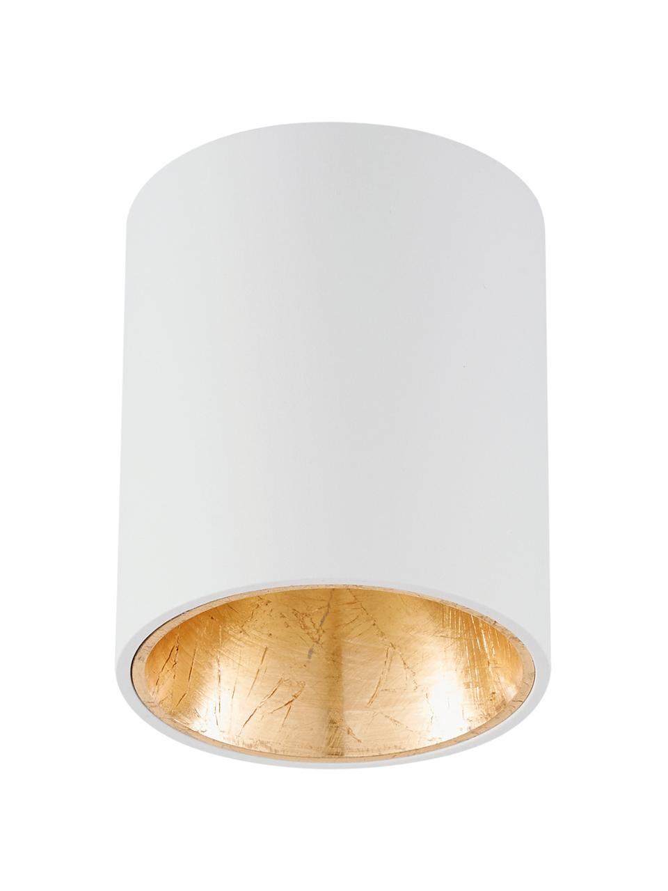 Spot plafond LED Marty, Blanc, couleur dorée