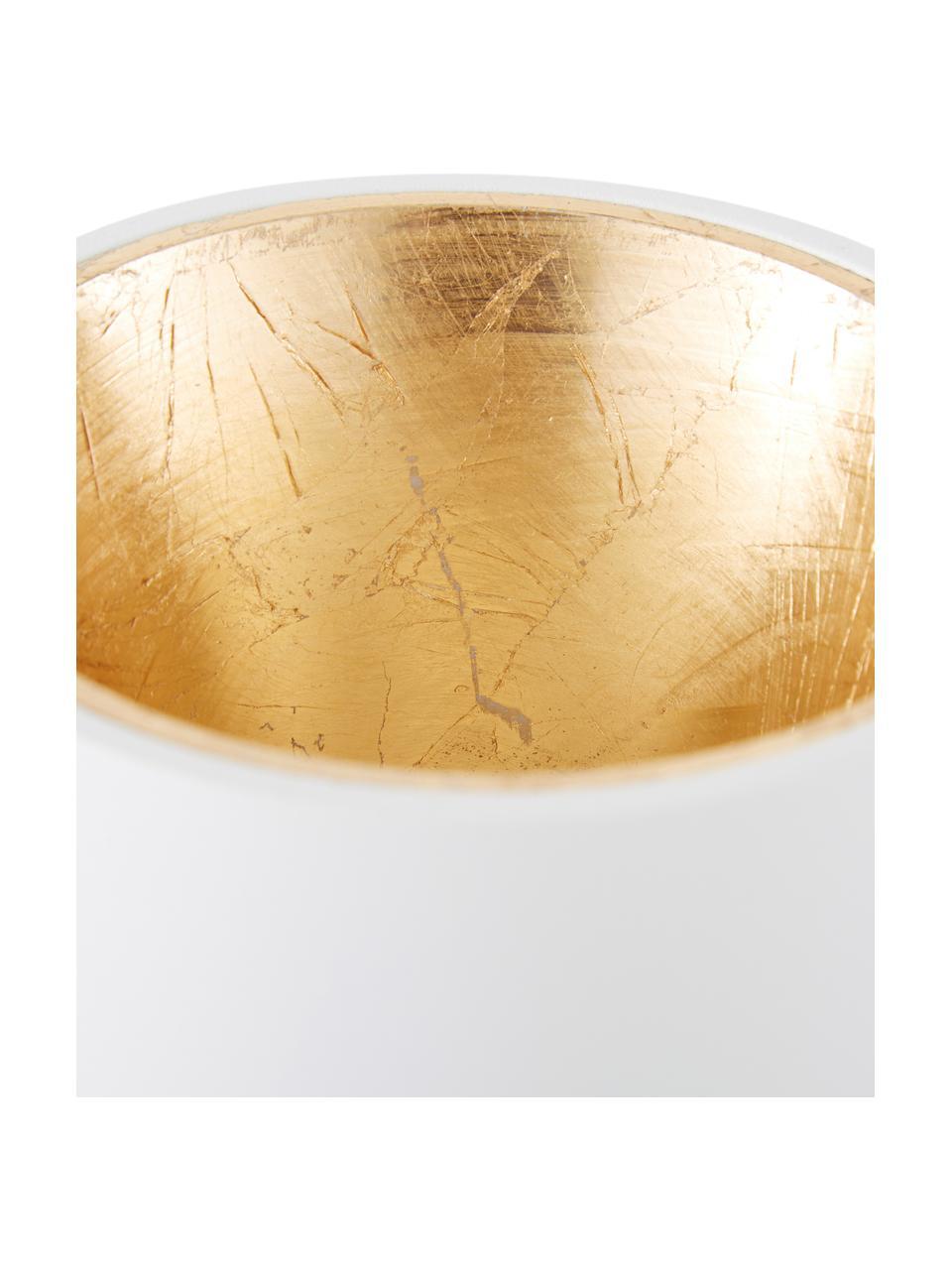 LED-Deckenspot Marty in Weiß-Gold mit Antik-Finish, Weiß, Goldfarben, Ø 10 x H 12 cm