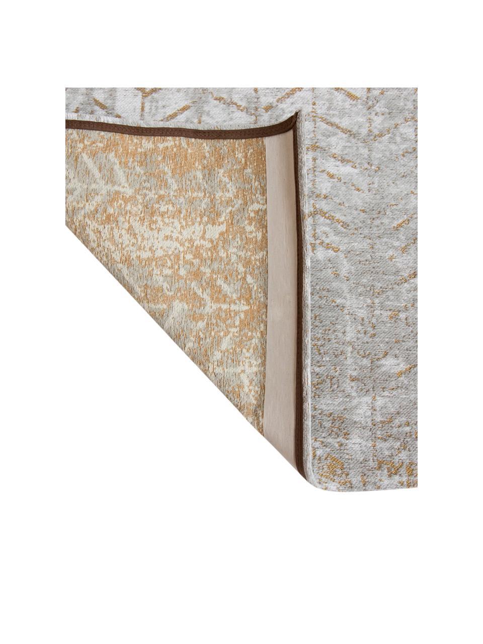 Dywan J. Ladder, Odcienie szarego, złamana biel, odcienie złotego, S 140 x D 200 cm (Rozmiar S)