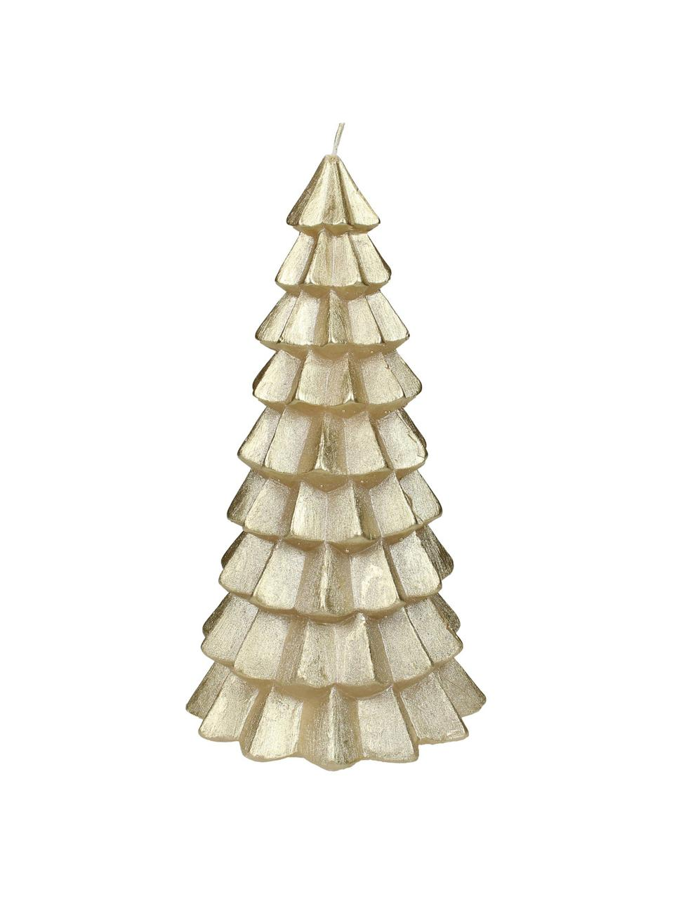 Kerze Christmas Tree, Paraffinwachs, Goldfarben, Ø 6 x H 12 cm