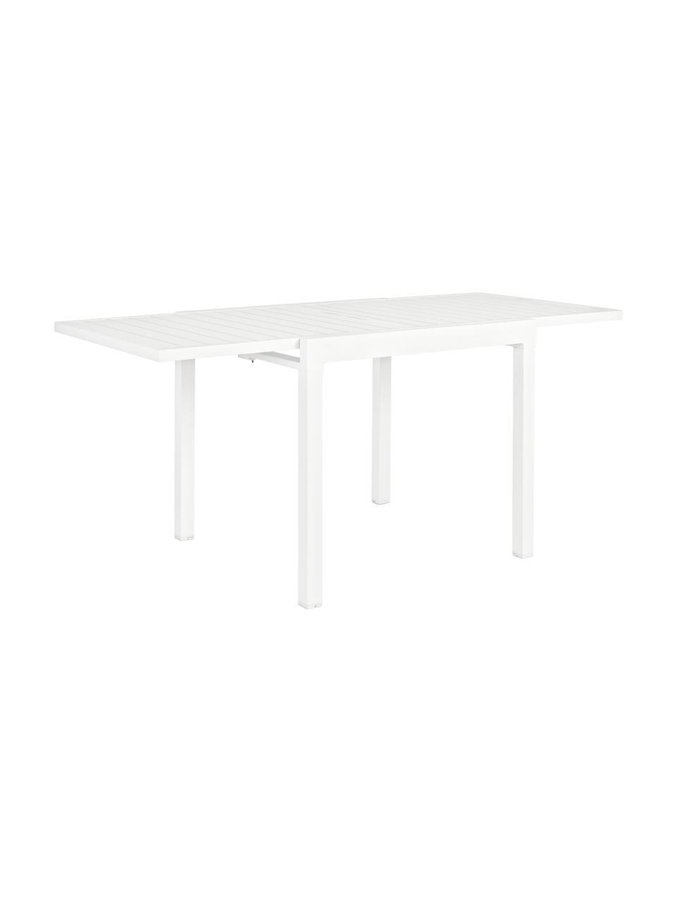 Tavolo da giardino allungabile Pelagius, Alluminio verniciato a polvere, Bianco, Larg. 83 a 166 x Prof. 80 cm