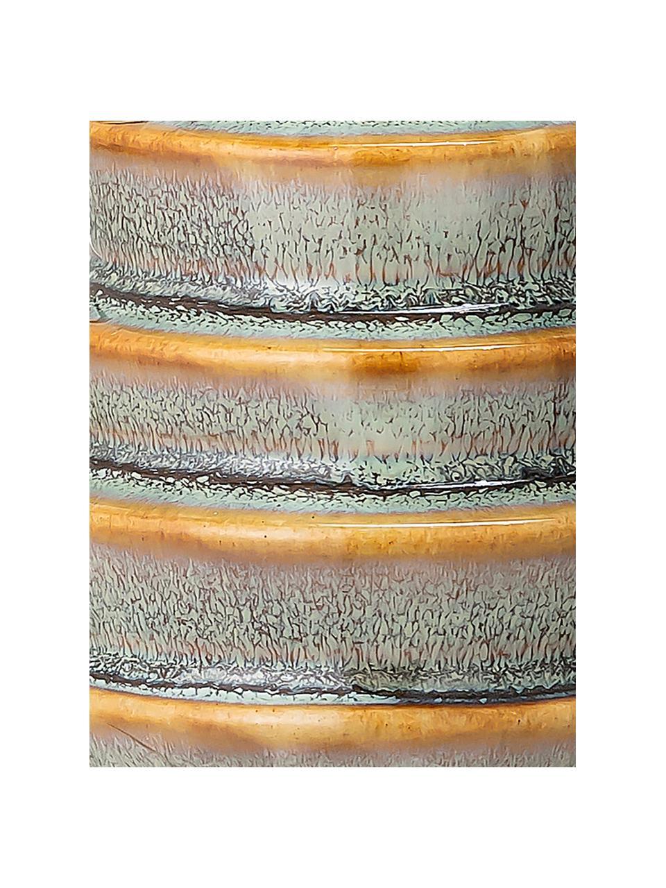 Candelabro fatto a mano Jory, Gres, Verde, marrone, Ø 7 x Alt. 9 cm