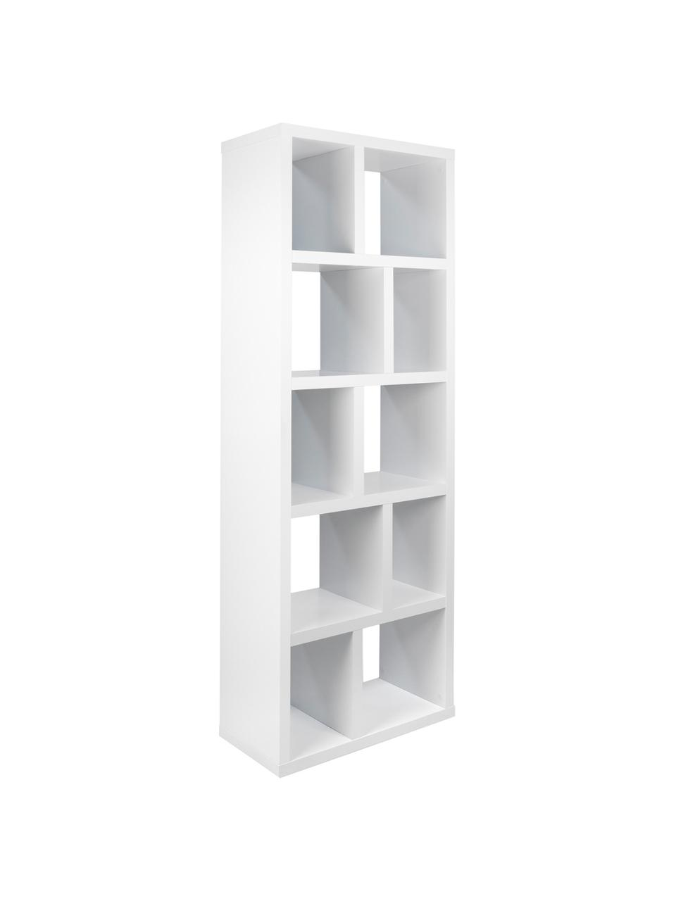 Bücherregal Portlyn in Weiß, Oberfläche: Melaminschicht., Weiß, matt, 70 x 198 cm