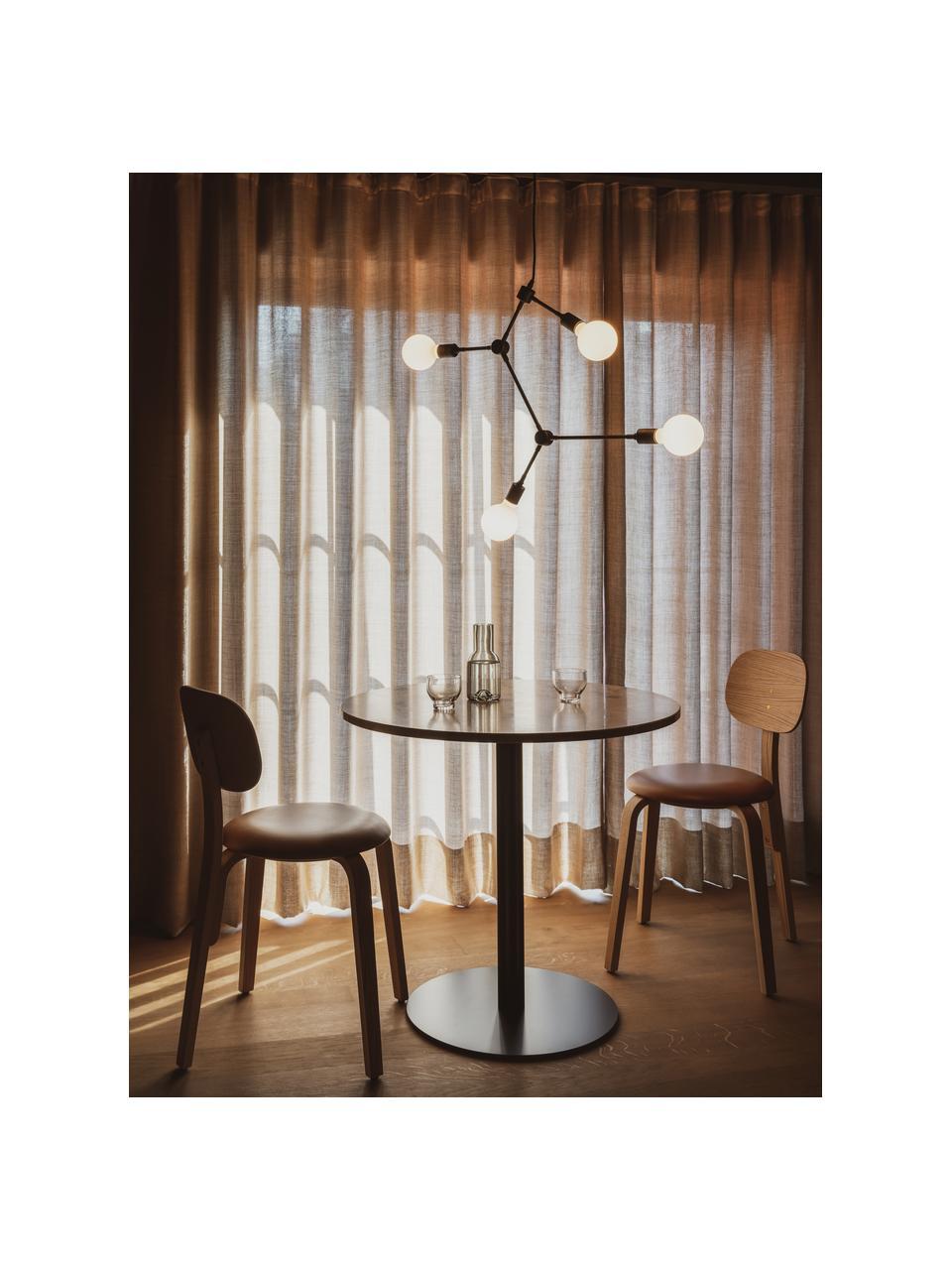 Lampada senza sospensione Franklin, Nero, Ø 56 x Alt. 56 cm