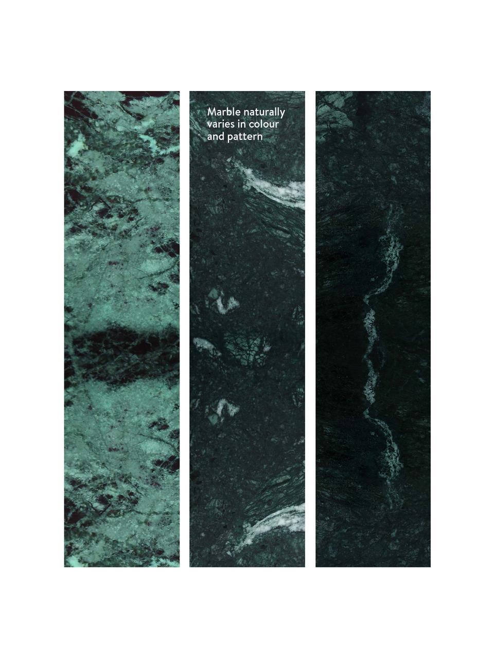 Marmor-Beistelltisch Alys, Tischplatte: Marmor, Gestell: Metall, pulverbeschichtet, Grüner Marmor, Goldfarben, 45 x 50 cm