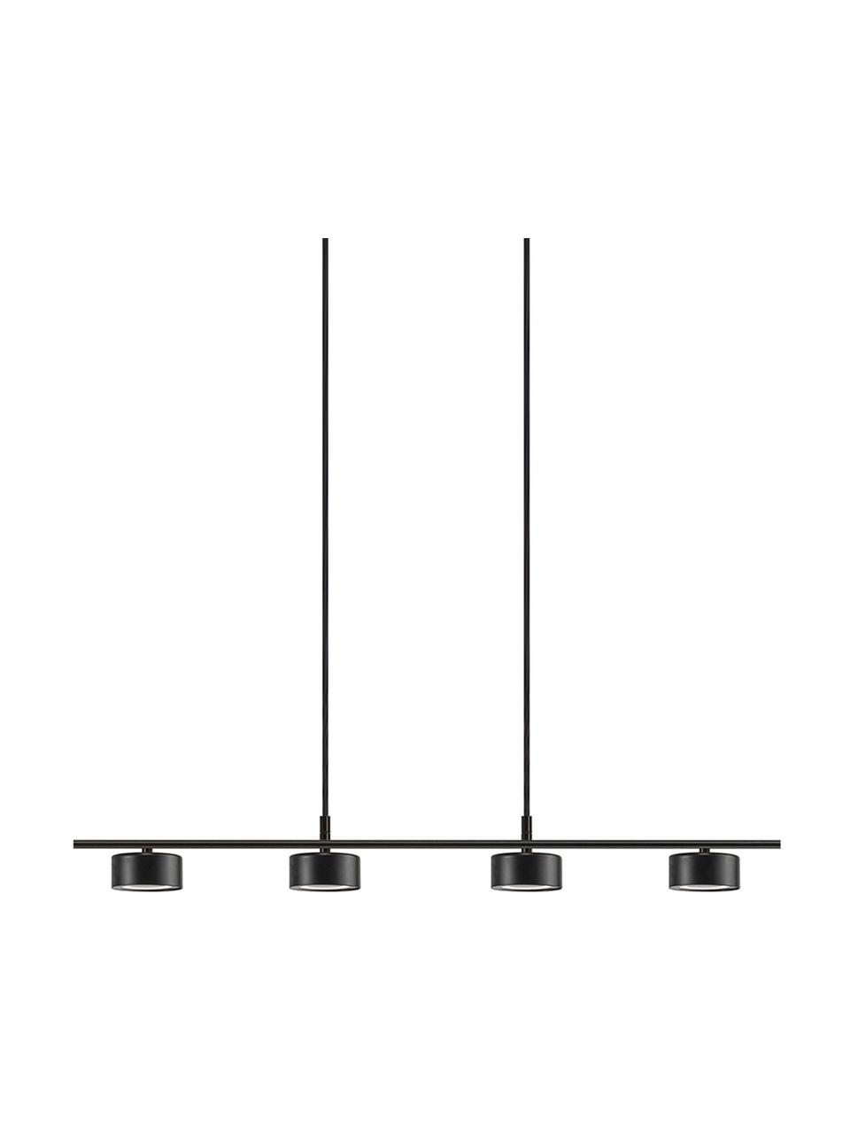 Lampa wisząca LED z funkcją przyciemniania Clyde, Czarny, S 115 x W 10 cm