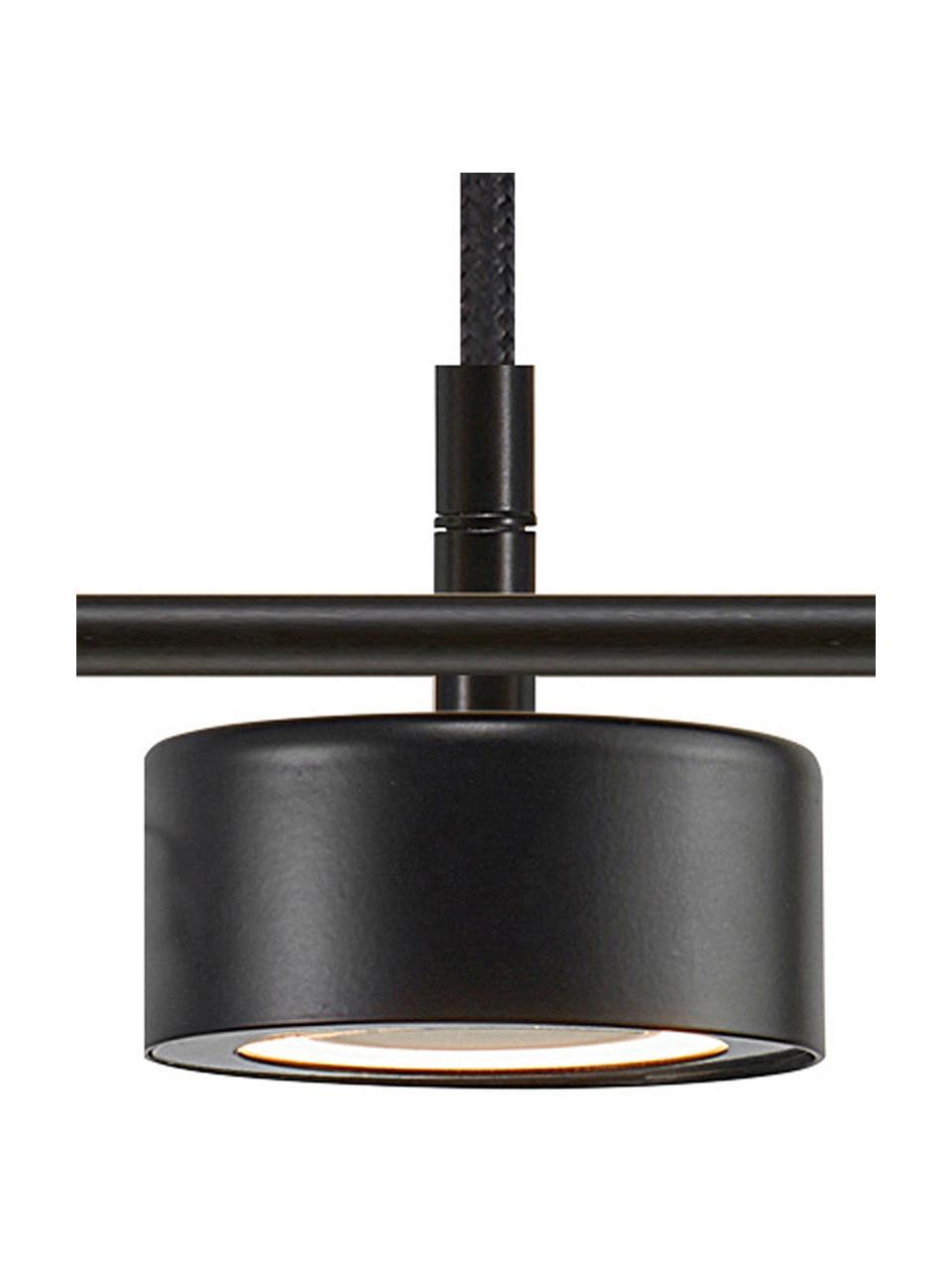 Große Dimmbare LED Pendelleuchte Clyde, Lampenschirm: Metall, beschichtet, Baldachin: Metall, beschichtet, Schwarz, 115 x 10 cm