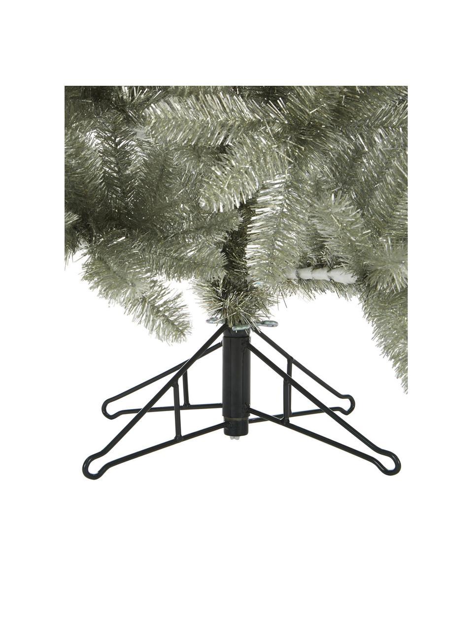 Künstlicher Weihnachtsbaum Colchester in Silber H 185 cm, Kunststoff, Platinfarben, Ø 84 x H 185 cm