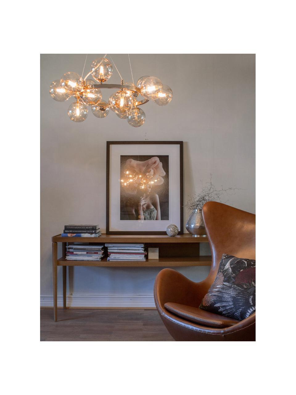 Suspension design grappe à sphères multiples en verre Splendor, Couleur cuivrée