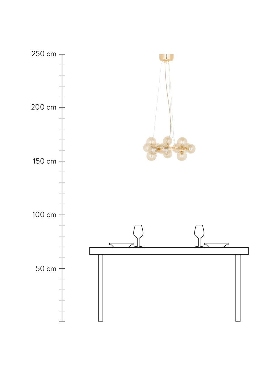 Okrągła lampa wisząca Splendor, Odcienie miedzi, Ø 58 x W 22 cm