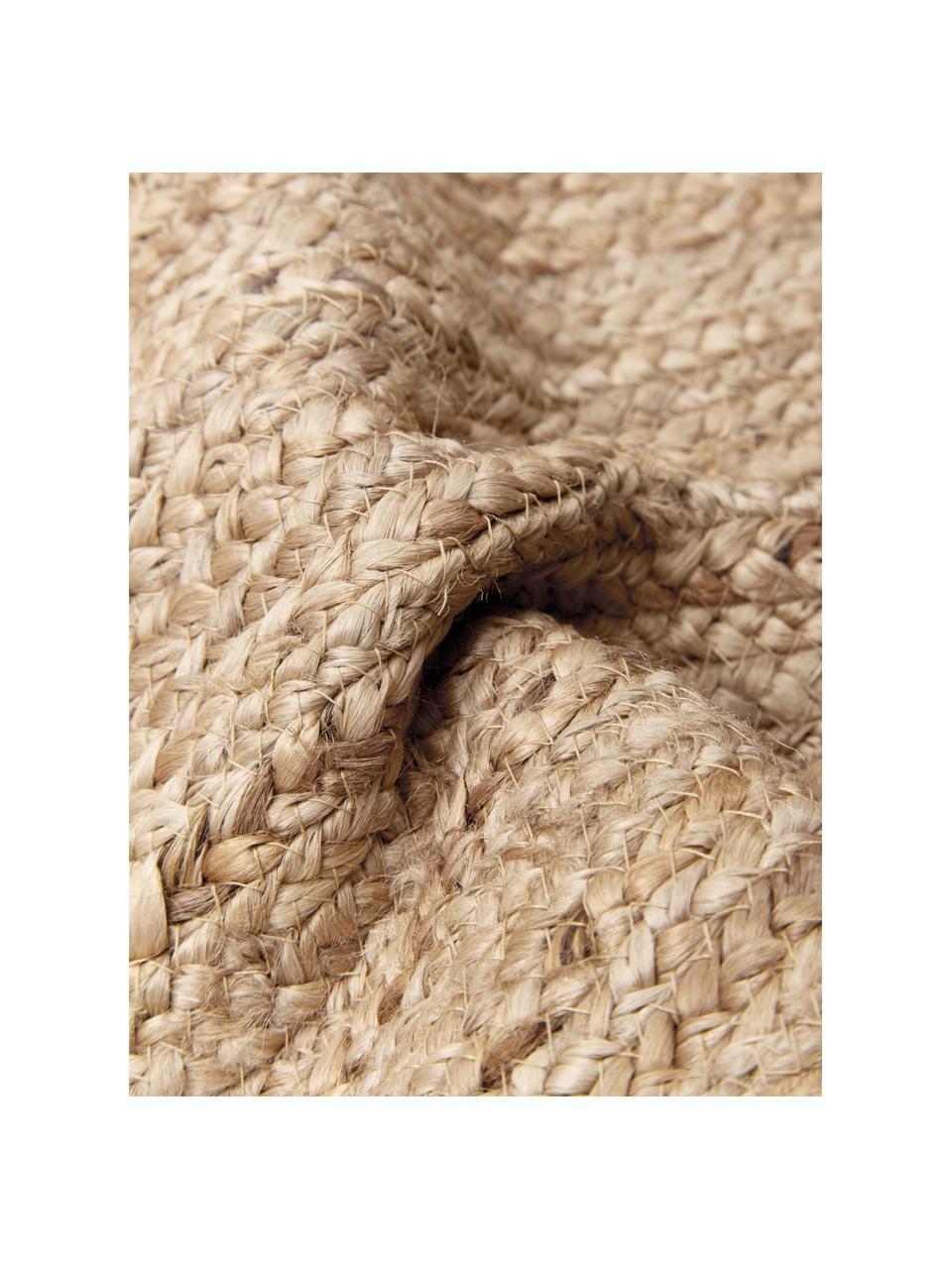 Federa arredo in juta con nappe Jerome, Retro: 100% cotone, Beige, bianco, Larg. 30 x Lung. 50 cm