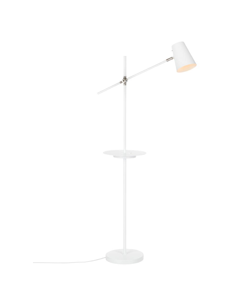 Lampa do czytania ze stacją ładującą Linear, Biały, G 65 x W 144 cm