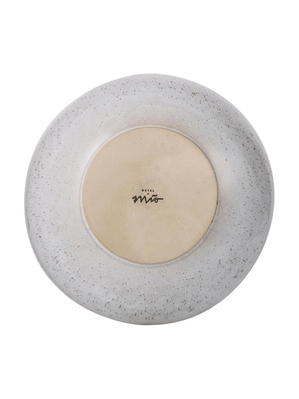 Ręcznie malowana miska do serwowania Areia, Kamionka, Odcienie czerwonego, złamana biel, jasny beżowy, Ø 22 x W 5 cm