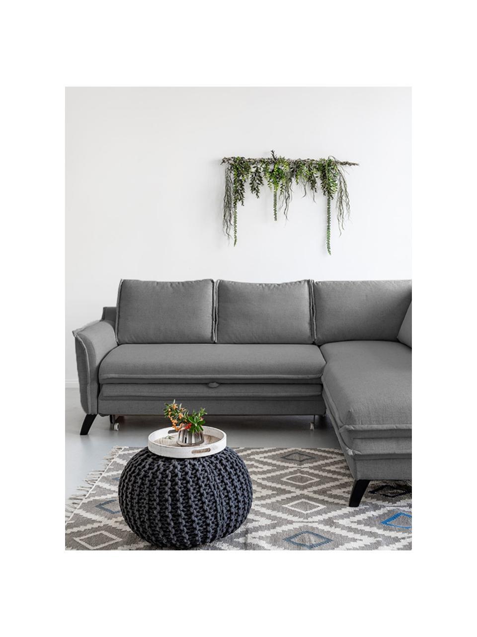 Sofa narożna z funkcją spania Charming Charlie, Tapicerka: 100% poliester, w dotyku , Stelaż: drewno naturalne, płyta w, Szary, S 230 x G 200 cm