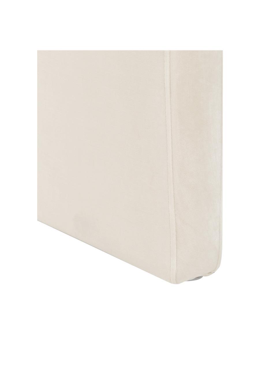 Ławka tapicerowana z aksamitu Penelope, Tapicerka: aksamit (poliester) 2500, Stelaż: metal, płyta wiórowa, Kremowobiały, S 110 x W 46 cm