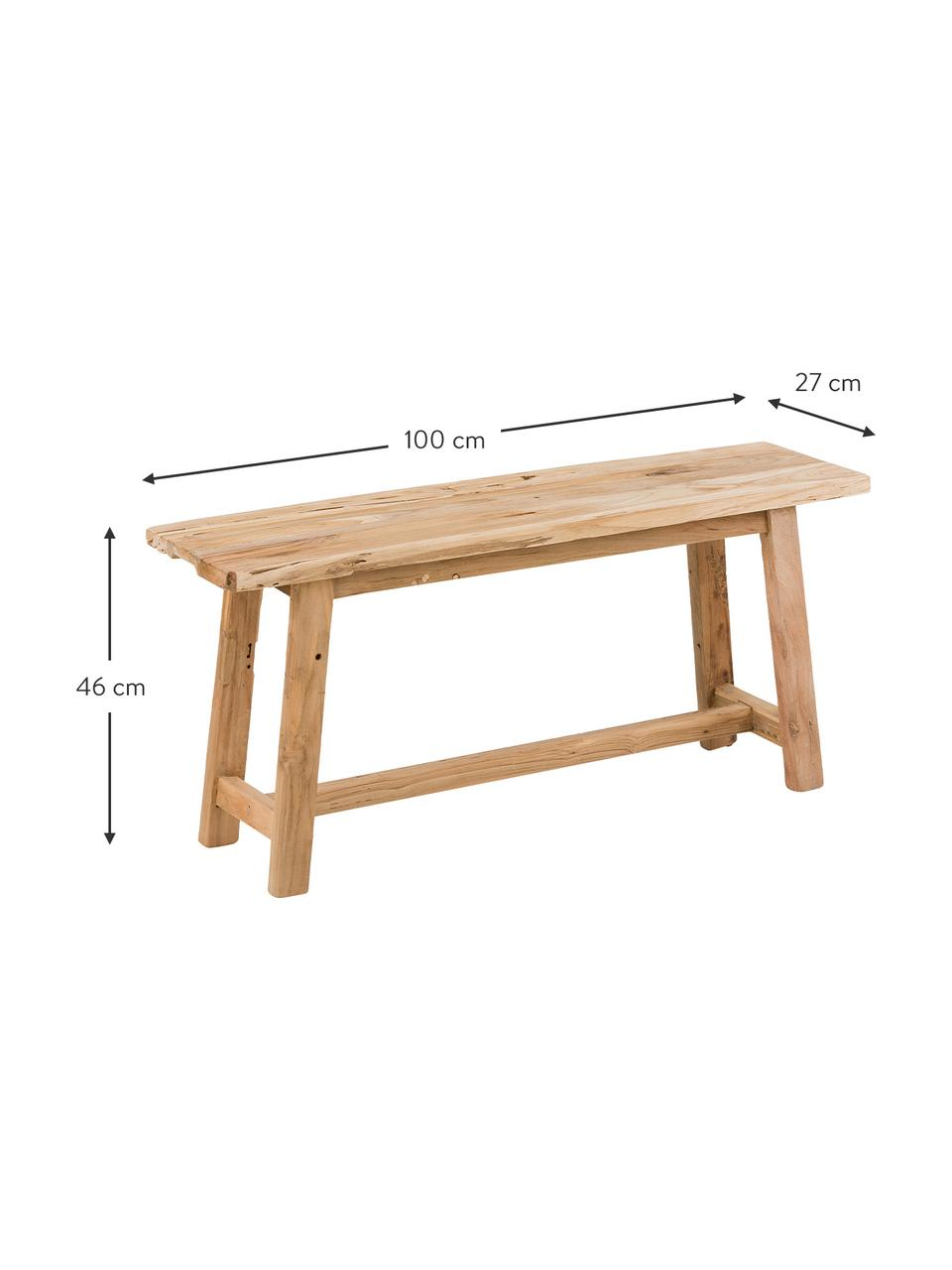 Dřevěná lavice Lawas, Teakové dřevo