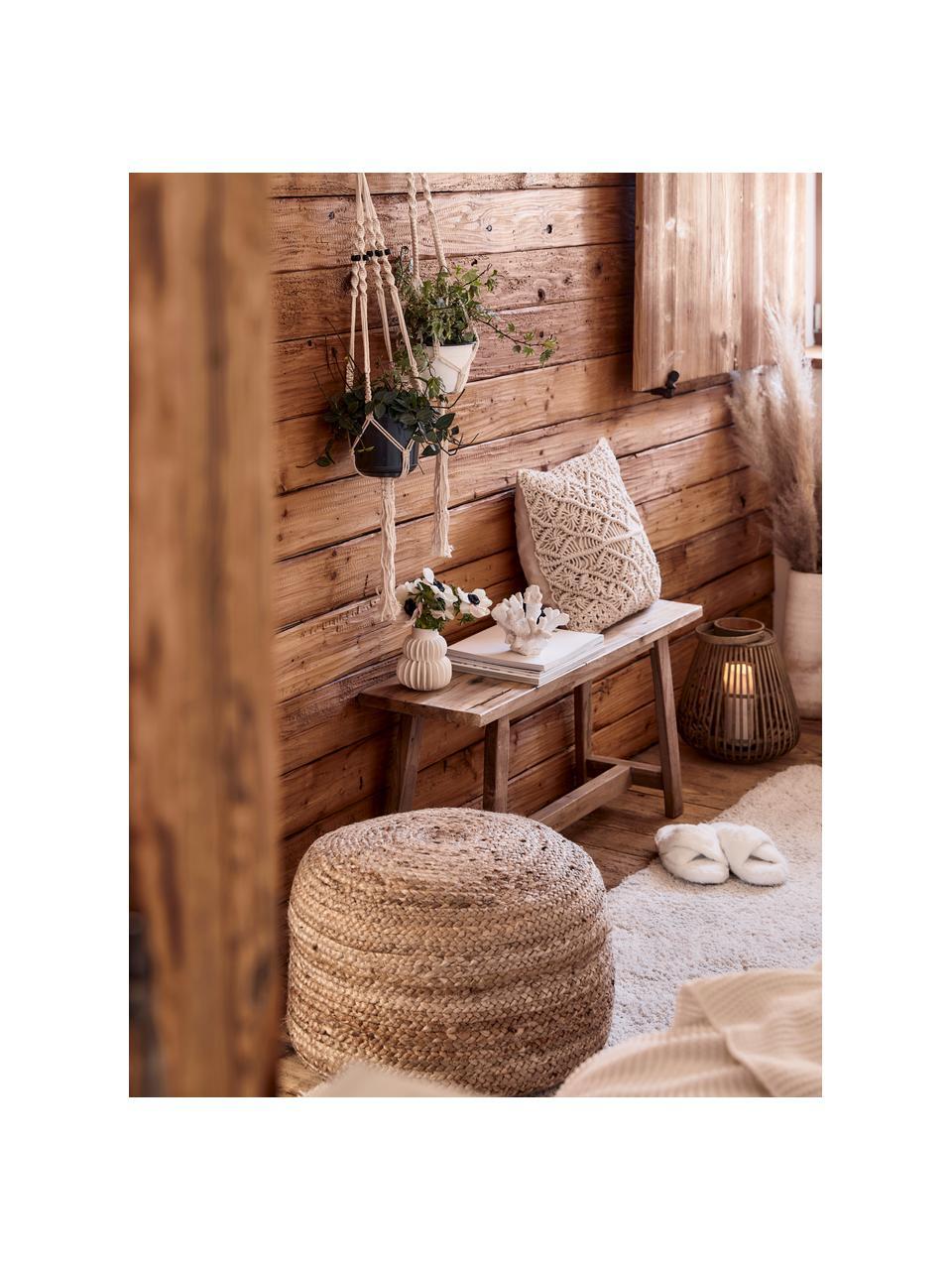 Banco de madera de teca reciclada Lawas, Madera de teca natural, Teca, An 100 x Al 46 cm