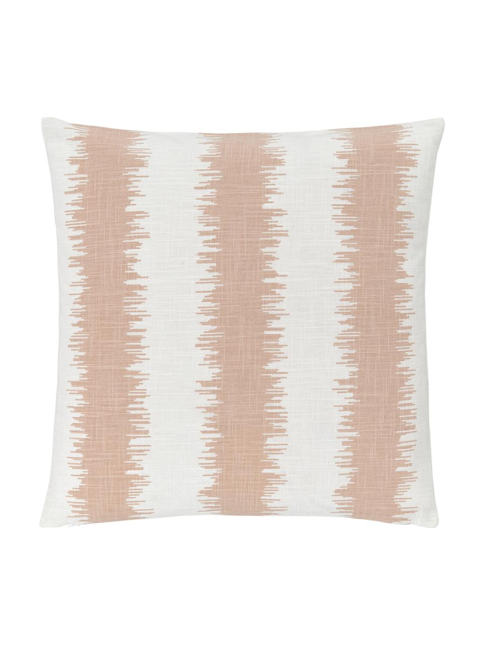 Kissenhüllen Hasan mit Ethnomuster in Pfirsichfarben/Weiß 2er-Set, 100% Baumwolle, Pfirsichfarben, 30 x 50 cm