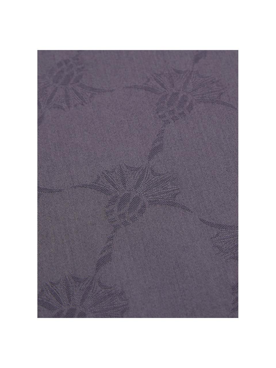 Mako-Satin-Bettwäsche Cornflower mit Kornblumen, Webart: Mako-Satin, Quarztöne, 135 x 200 cm + 1 Kissen 80 x 80 cm