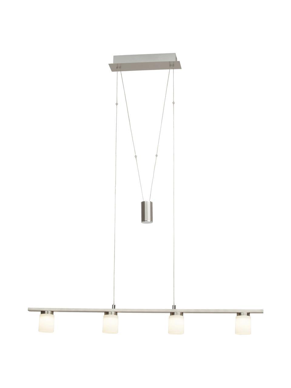 Duża lampa  wisząca LED ze szkła  Betsy, Odcienie srebrnego, biały, S 90 x W 90 cm