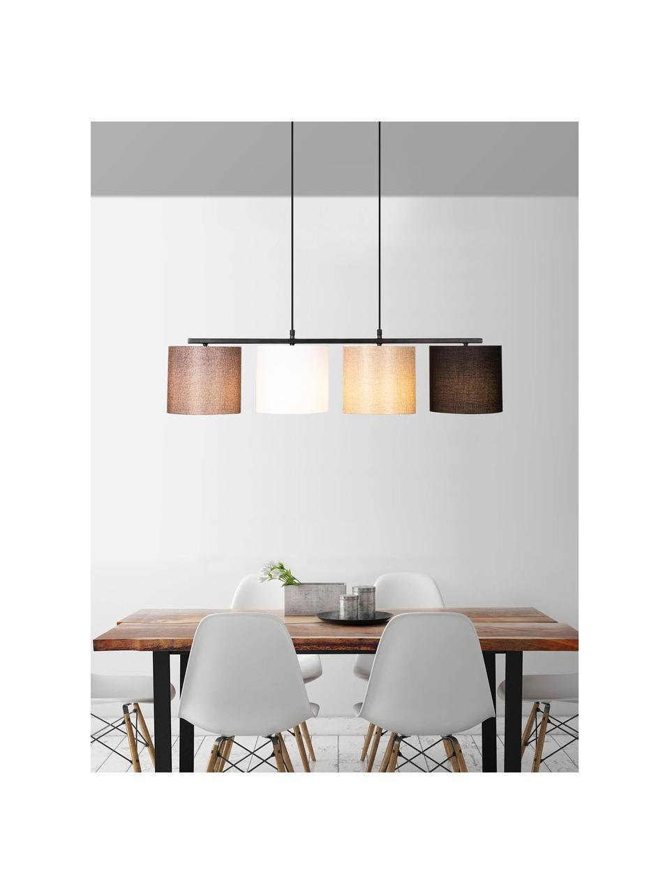 Duża lampa wisząca Valiz, Czarny, beżowy, biały, brązowy, S 110 x W 22 cm