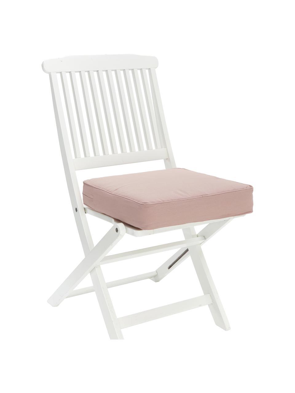 Sitzkissen Zoey in Altrosa, Bezug: 100% Baumwolle, Rosa, 40 x 40 cm