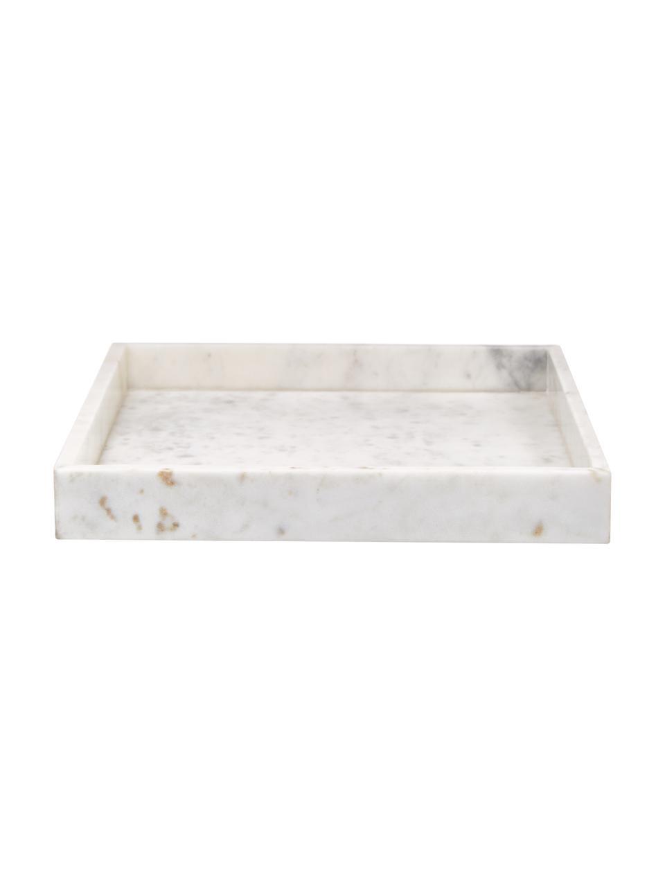 Vassoio decorativo in marmo bianco Sienna, Marmo, Bianco, Larg. 30 x Alt. 4 cm